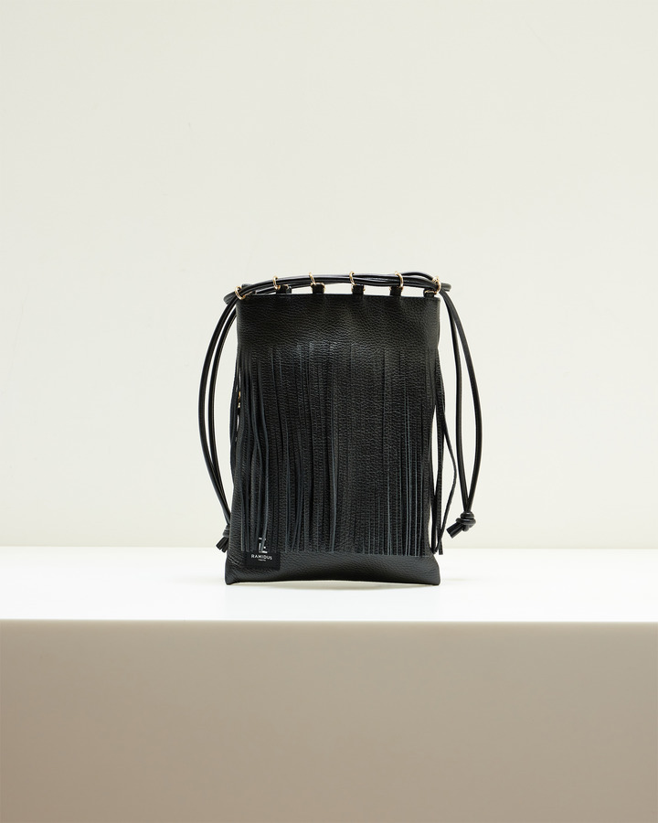 LEATHER FRINGE POUCH 詳細画像 BLACK 2