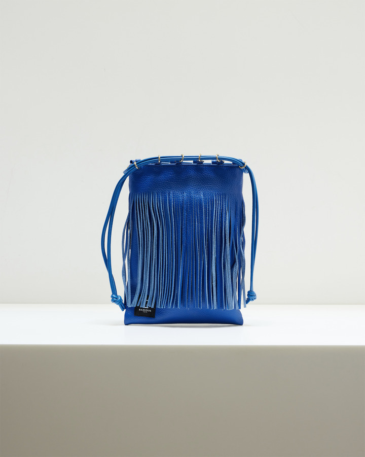 LEATHER FRINGE POUCH 詳細画像 BLUE 2