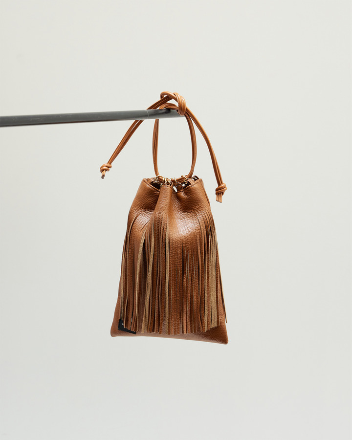 LEATHER FRINGE POUCH 詳細画像 BROWN 1