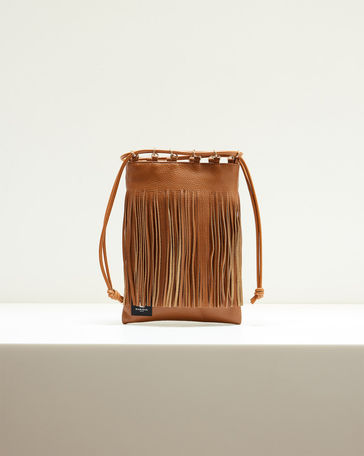 LEATHER FRINGE POUCH 詳細画像 BROWN 2