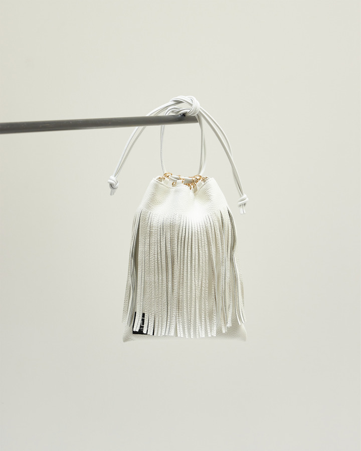 LEATHER FRINGE POUCH 詳細画像 WHITE 1