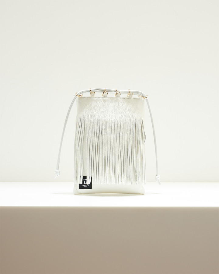 LEATHER FRINGE POUCH 詳細画像 WHITE 2