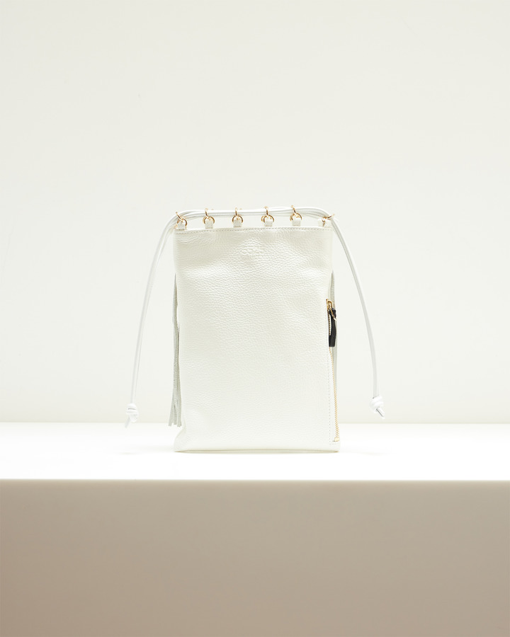 LEATHER FRINGE POUCH 詳細画像 WHITE 3