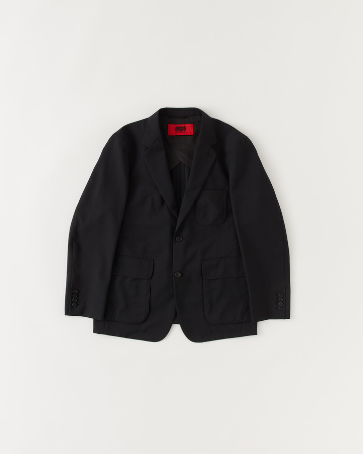 3 PATCH POCKET NOTCHED COLLAR JACKET 詳細画像 BLACK / NAVY 1