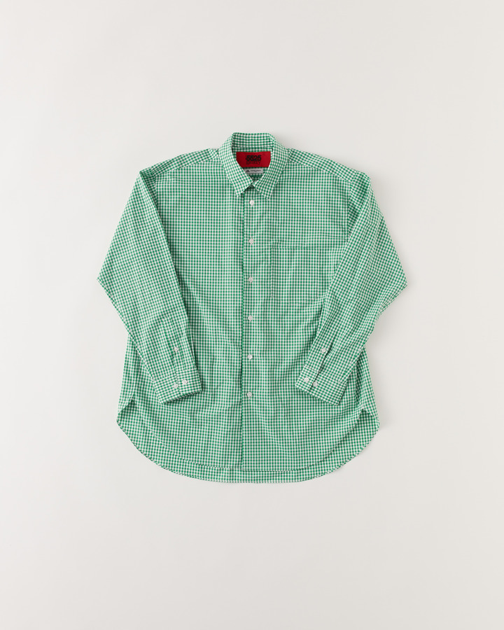 """TM"" GHINGHAM SHIRT 詳細画像 GREEN 1"