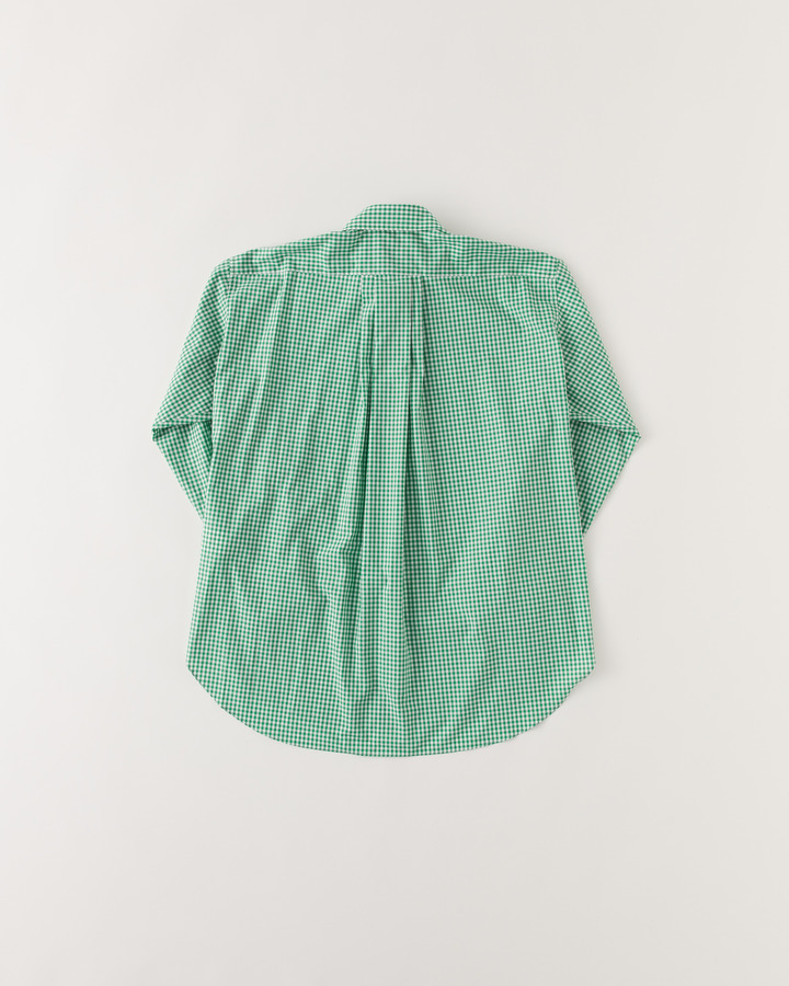 """TM"" GHINGHAM SHIRT 詳細画像 GREEN 2"