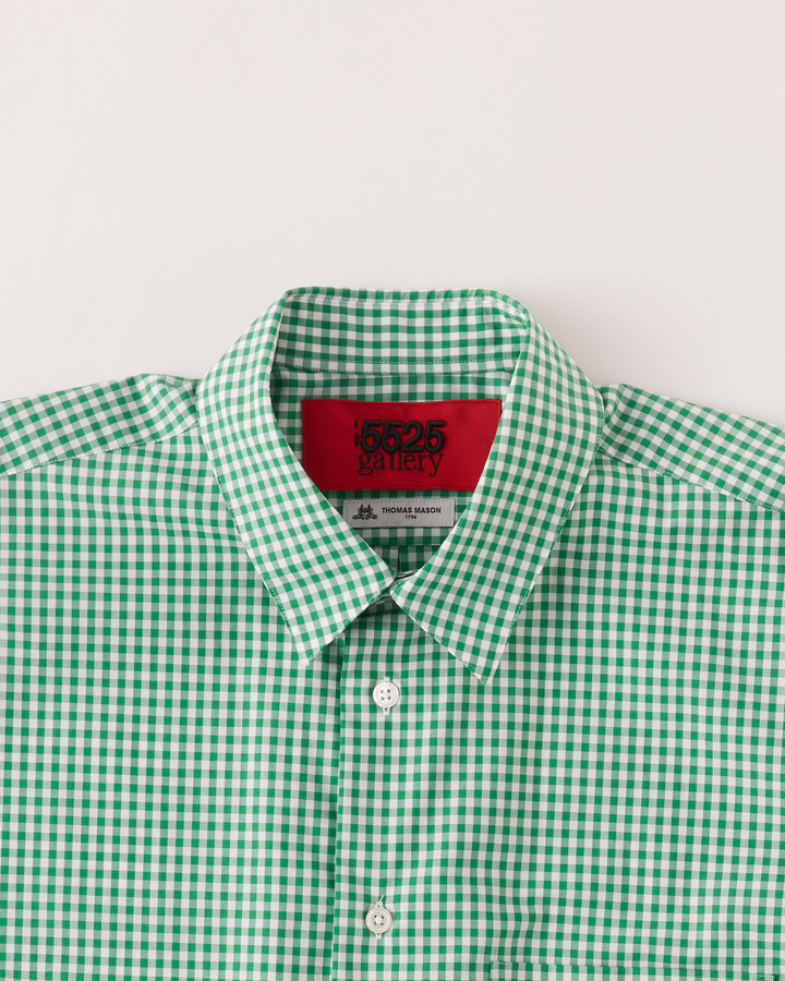 """TM"" GHINGHAM SHIRT 詳細画像 GREEN 3"