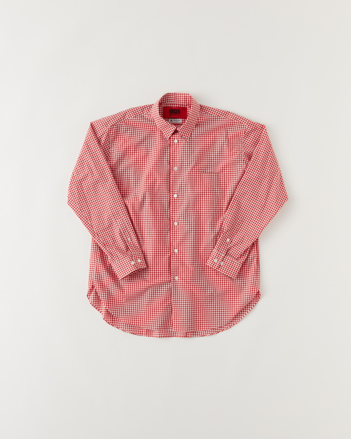 """TM"" GHINGHAM SHIRT 詳細画像 RED 1"