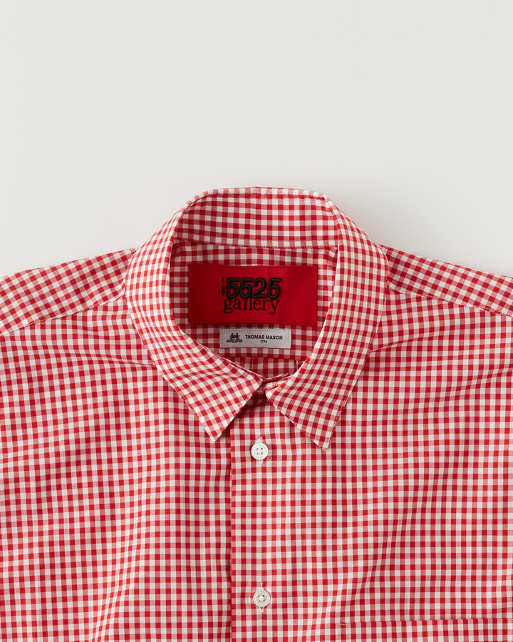 """TM"" GHINGHAM SHIRT 詳細画像 RED 3"